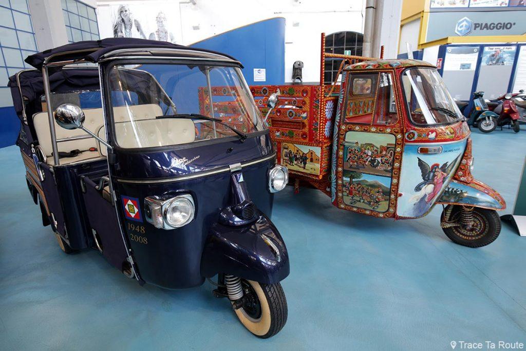 Tricycle Ape Calessino Orlando Furioso - Museo Piaggio Pontedera (Pisa, Valdera, Toscana, Italie) Musée Piaggio à Pontedera
