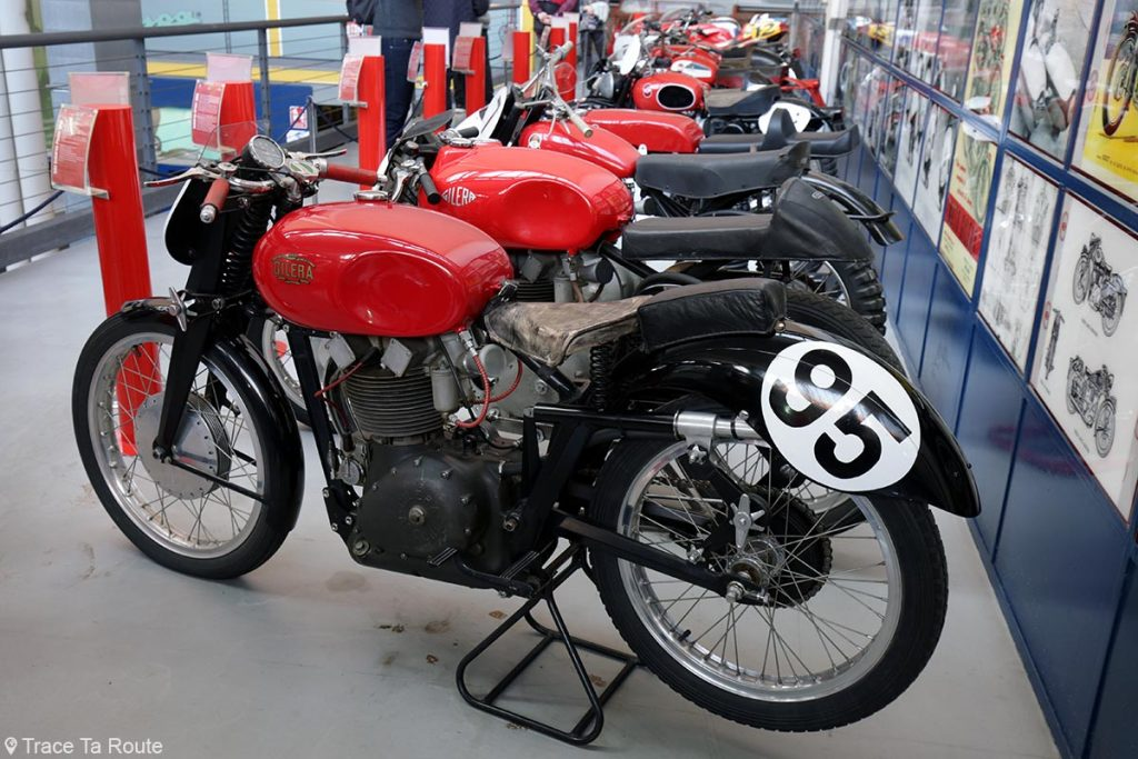 Moto Gilera 500 Saturno San Remo - Museo Piaggio Pontedera (Pisa, Valdera, Toscana, Italie) Musée Piaggio à Pontedera