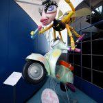 Vespa fruccata carnaval - Museo Piaggio Pontedera (Pisa, Valdera, Toscana, Italie) Musée Piaggio à Pontedera