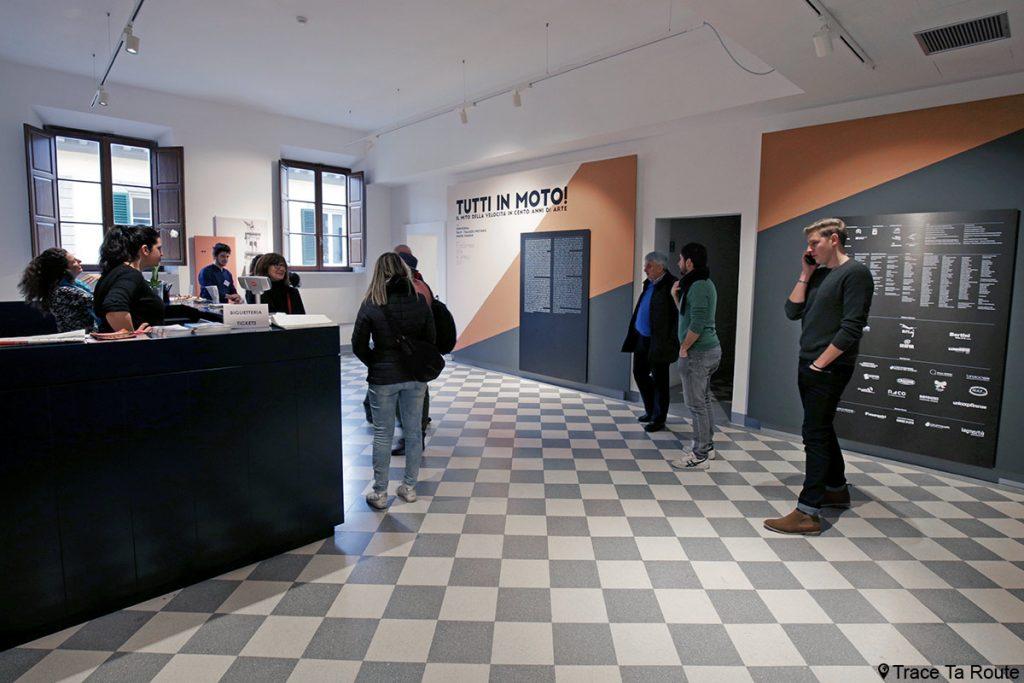 Visite du Musée Palazzo Pretorio à Pontedera, exposition Tutti in moto ! (Valdera, Toscane, Italie)