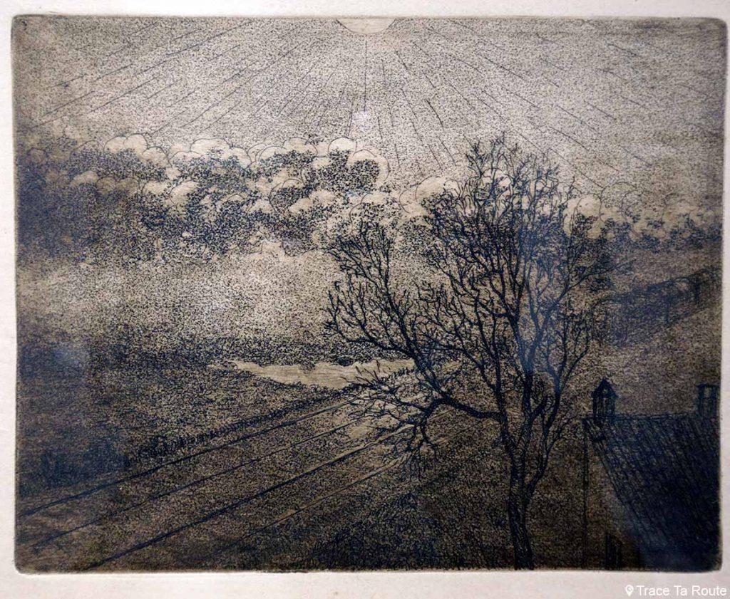 Il mattino (1909-1910) Luigi RUSSOLO - Visite exposition Tutti in moto ! (2017) Musée Palazzo Pretorio à Pontedera (Valdera, Toscane, Italie)