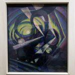 Dinamismo di un treno nella notte (vers 1911) Luigi RUSSOLO - Visite exposition Tutti in moto ! (2017) Musée Palazzo Pretorio à Pontedera (Valdera, Toscane, Italie)