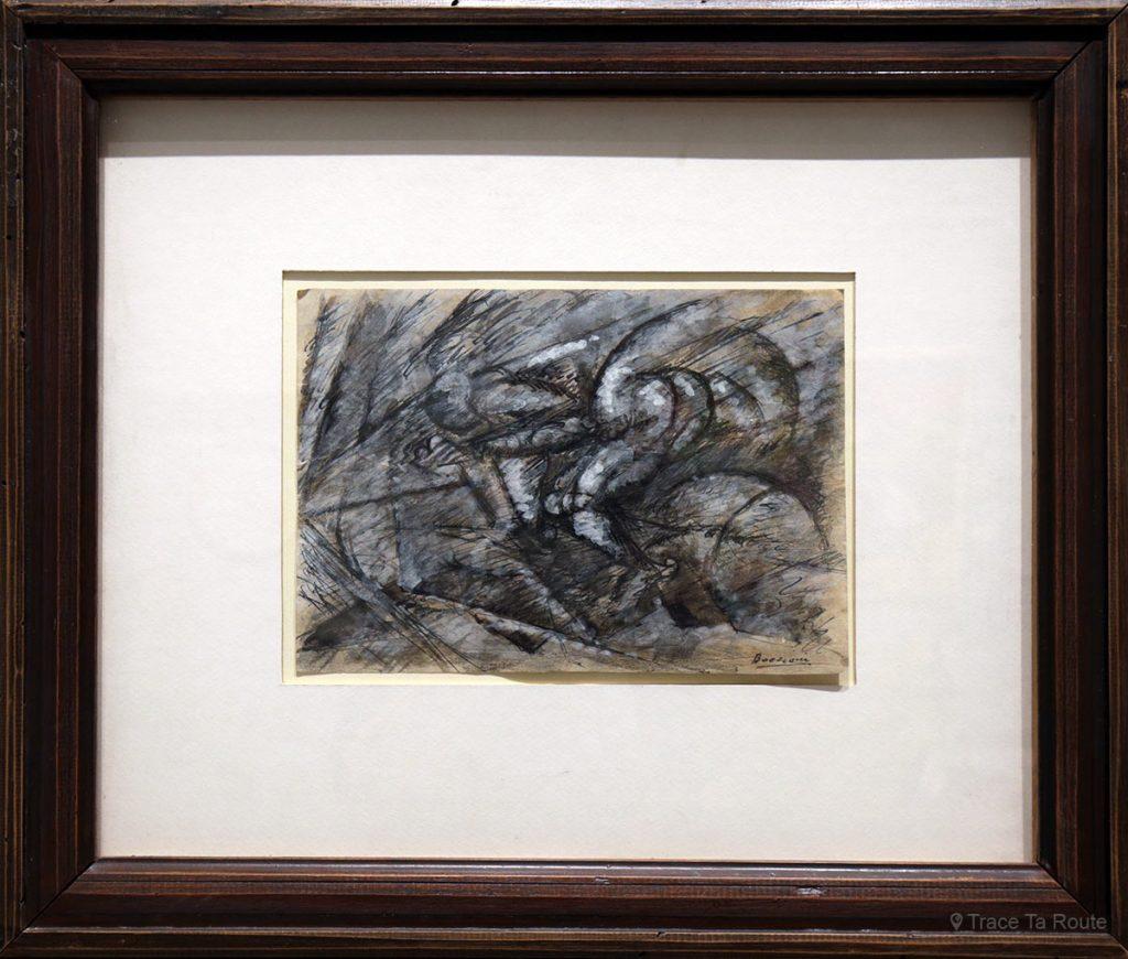 Dinamismo di un ciclista (vers 1913) Umberto BOCCIONI - Visite exposition Tutti in moto ! (2017) Musée Palazzo Pretorio à Pontedera (Valdera, Toscane, Italie)
