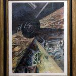 Paesaggio in velocità - Scivolamento d'ala (1930) TATO - Visite exposition Tutti in moto ! (2017) Musée Palazzo Pretorio à Pontedera (Valdera, Toscane, Italie)