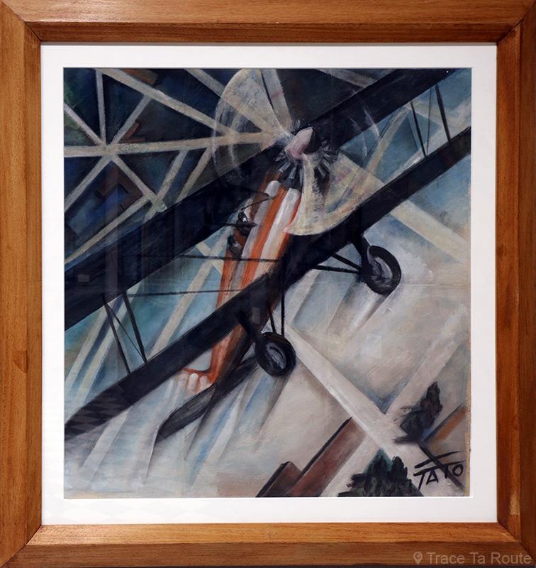 Caproni 100 in acrobazia (1928) TATO - Visite exposition Tutti in moto ! (2017) Musée Palazzo Pretorio à Pontedera (Valdera, Toscane, Italie)