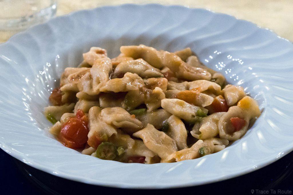 Gastronomie Toscane, Italie - Pasta - Restaurant Zeiro Azienda Agricola Villa Fattoria, Capannoli (Valdera)