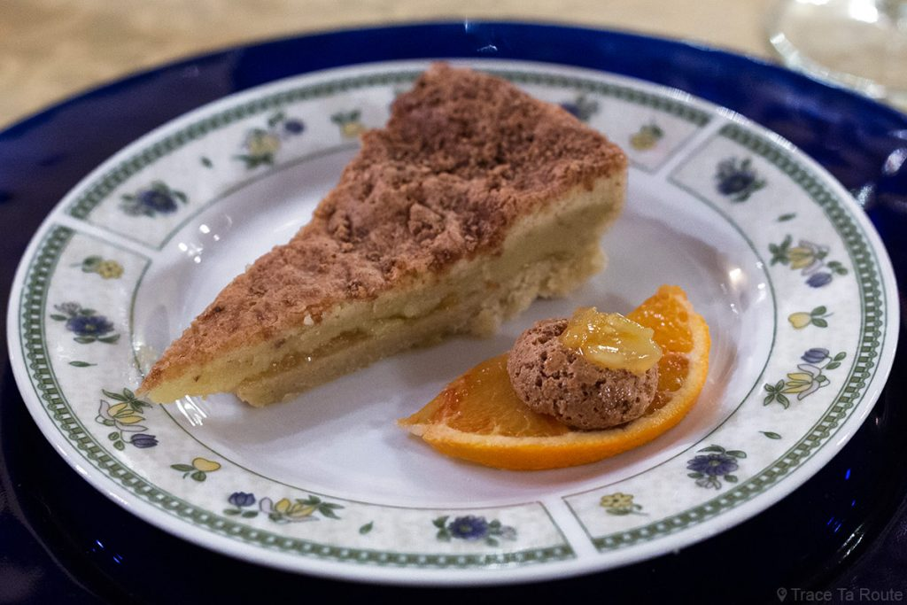 Gastronomie Toscane, Italie - Tarte à l'orange - Restaurant Zeiro Azienda Agricola Villa Fattoria, Capannoli (Valdera)