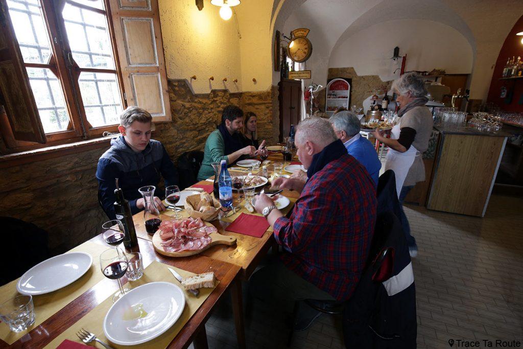 Gastronomie Toscane, Italie - Restaurant Bar Osteria Bacco Perbacco, Boschi de Lari (Valdera)