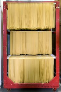 Gastronomie Toscane, Italie - Séchoir Pâtes Spaghetti, fabrique artisanale de pasta Martelli, Lari (Valdera)