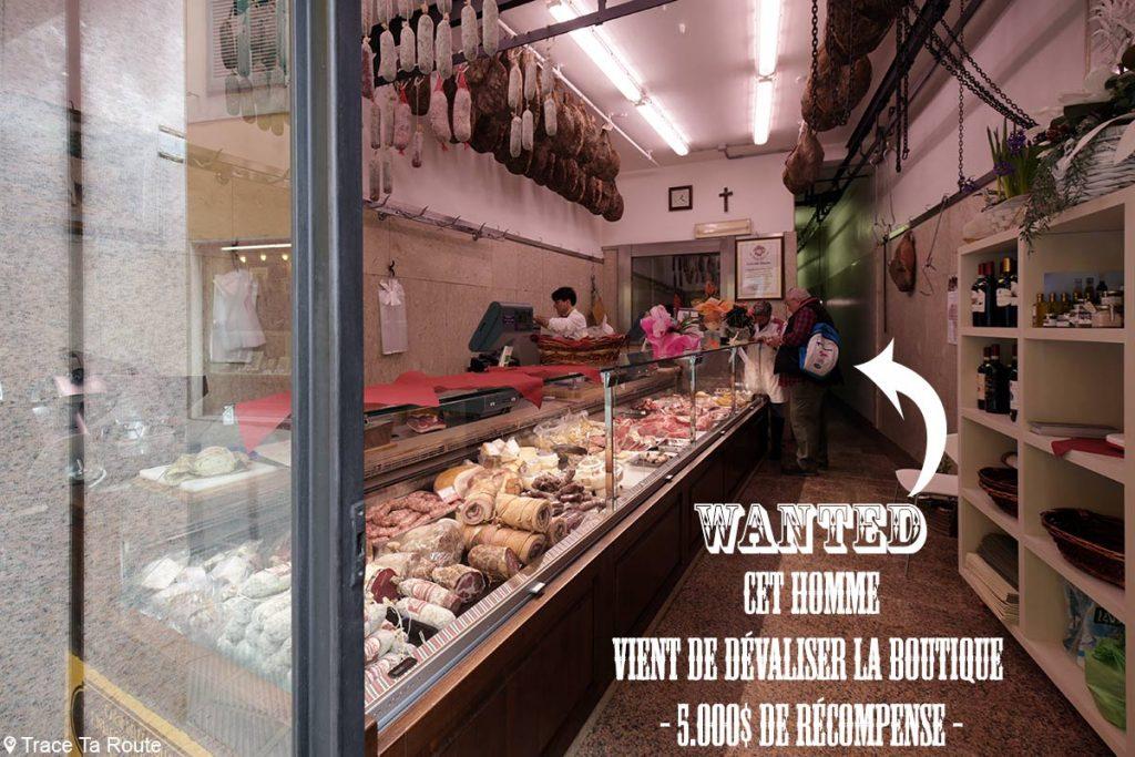 Gastronomie Toscane, Italie - Boucherie Charcuterie Macelleria Ceccotti, Lari (Valdera)