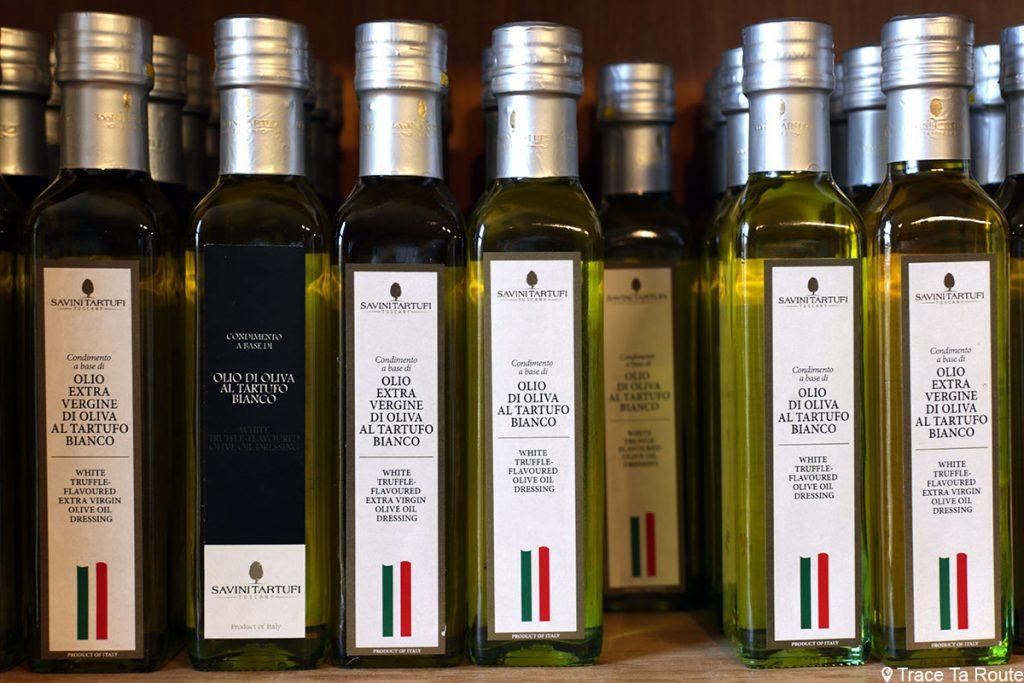 Gastronomie Toscane, Italie - Huile d'olive à la Truffe blanche - Savini Tartuffi Forcoli, Palaia (Valdera)