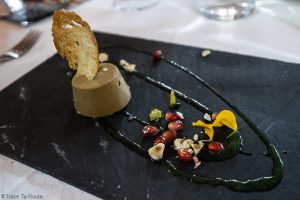 Gastronomie Toscane, Italie - Antipasti mousse de foie à la grenade - restaurant La Piccola Lanterna, Pontedera (Valdera)