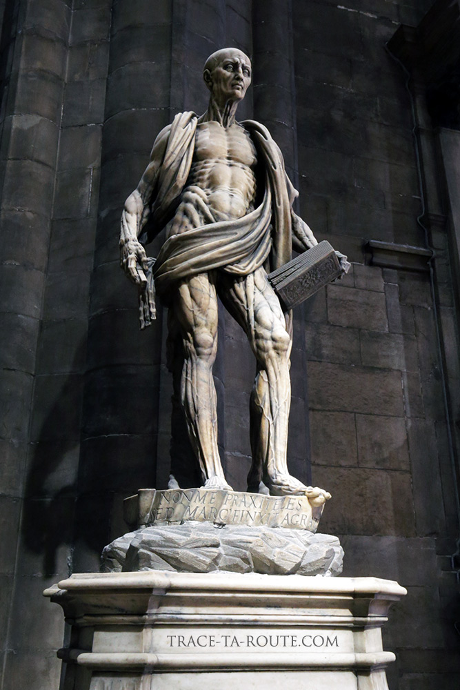 Cathédrale du Duomo de Milan - Statue de Saint-Barthélémy écorché Duomo di Milano