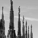 Sculptures statues sur les flèches de la Cathédrale du Duomo de Milan - Architecture Gothique - Duomo di Milano © L'Oeil d'Édouard