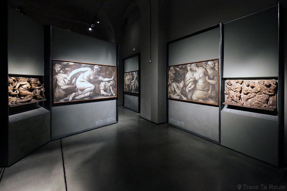 Exposition collection Musée du Duomo de Milan - peintures grisaille bas-relief - Museo del Duomo di Milano