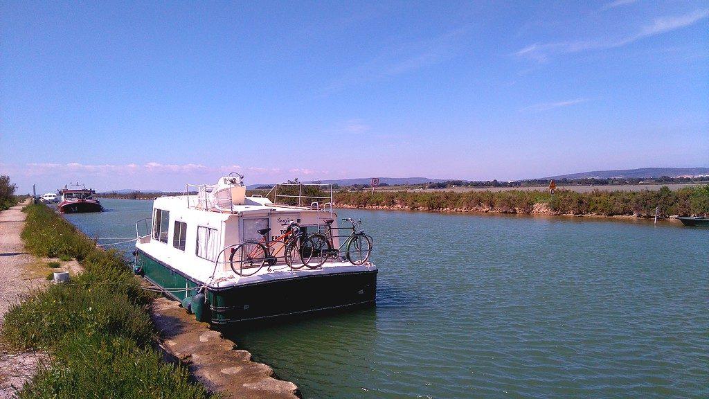 Notre bateau pour ce voyage en péniche sur le Canal du Rhône à Sète