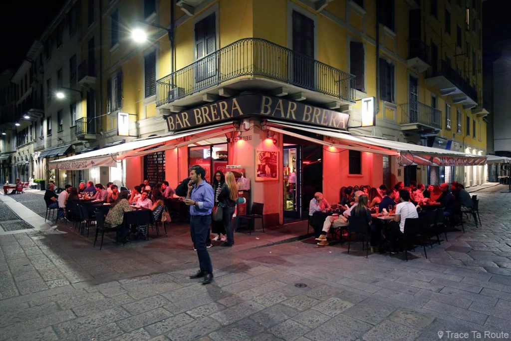 Terrasse Bar Brera Milan