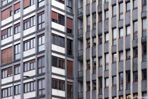 Architecture façades bâtiments Via Vittor Pisani, Milan
