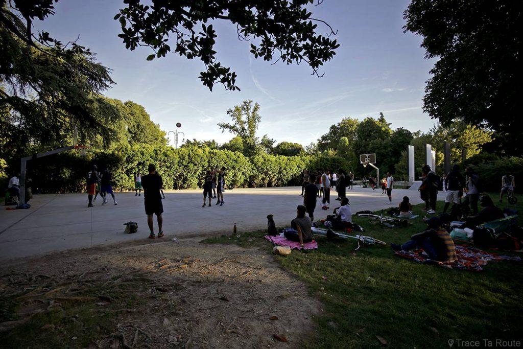 Street Basket dans le Parco Sempione de Milan