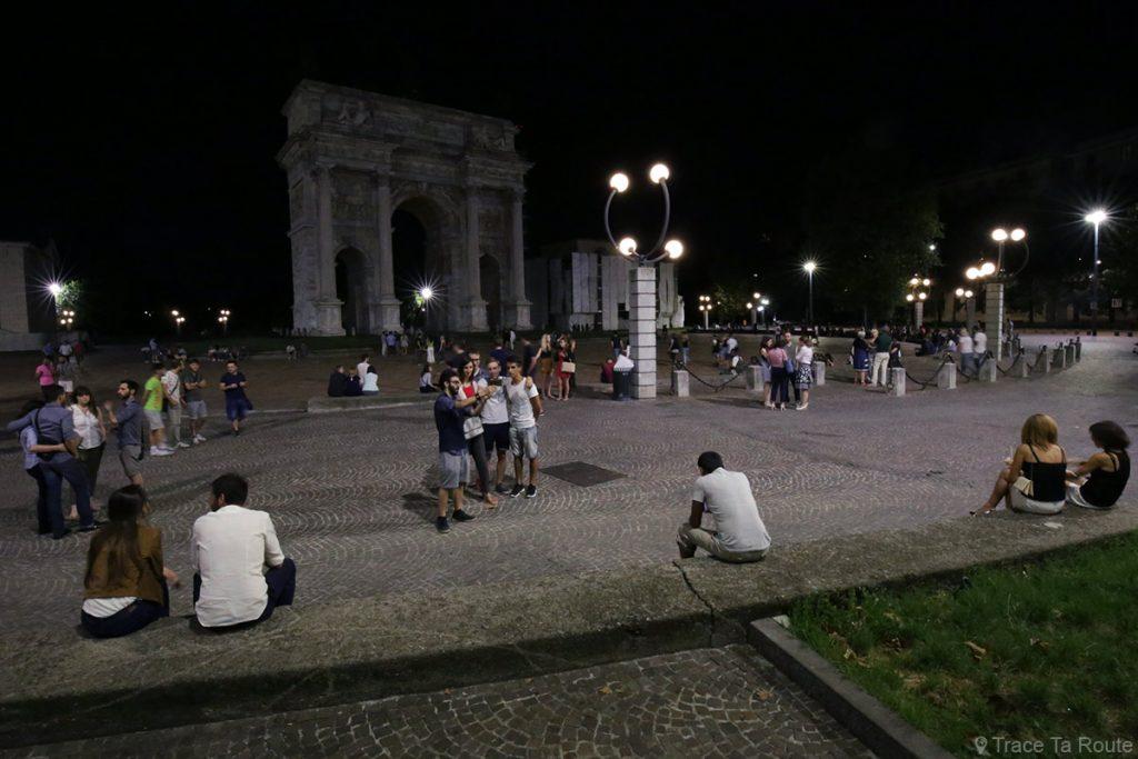 Samedi soir à Milan - Arc de Triomphe Arco della Pace di Milano, Parco Sempione