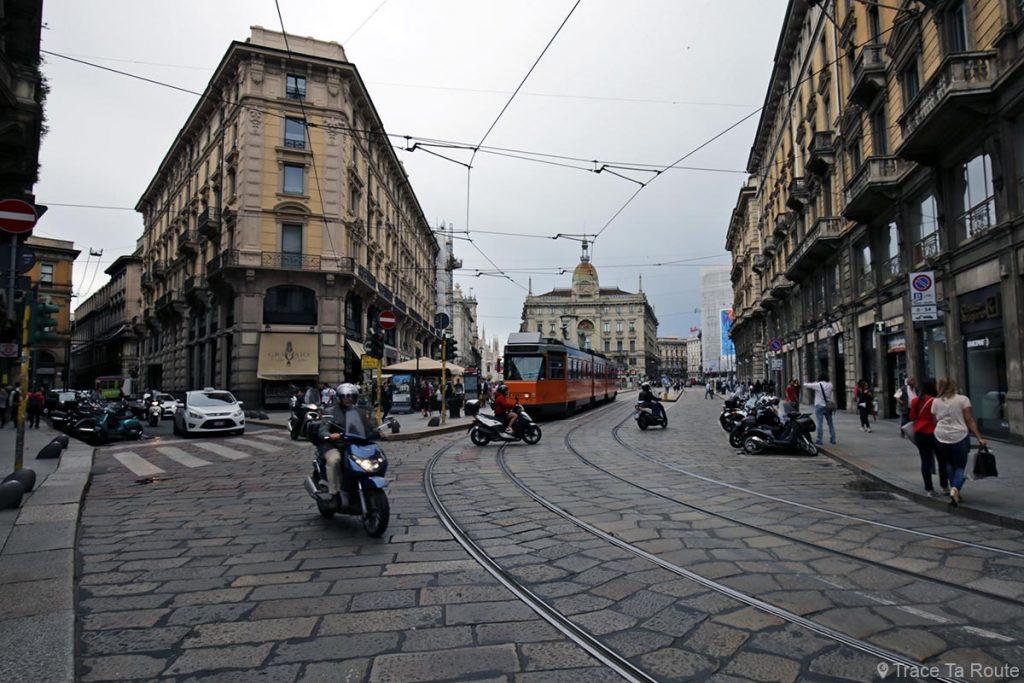 Rue de Milan : Via Dante et Piazza Cordusio, Milano
