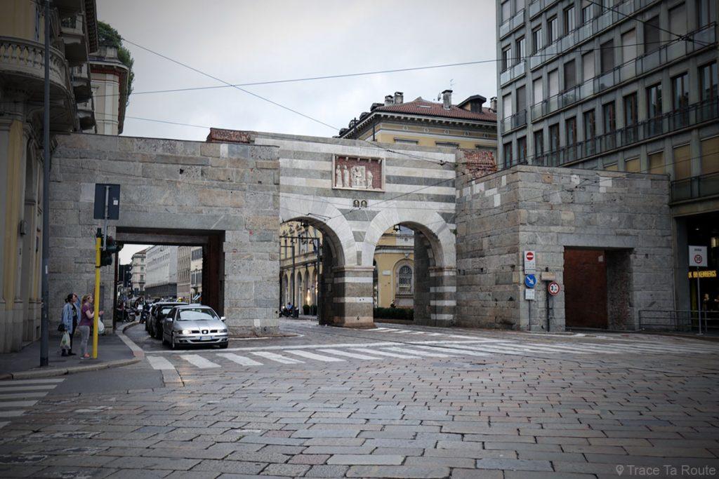 Rue de Milan : Archi di Porta Nuova, Via Alessandro Manzoni, Milano