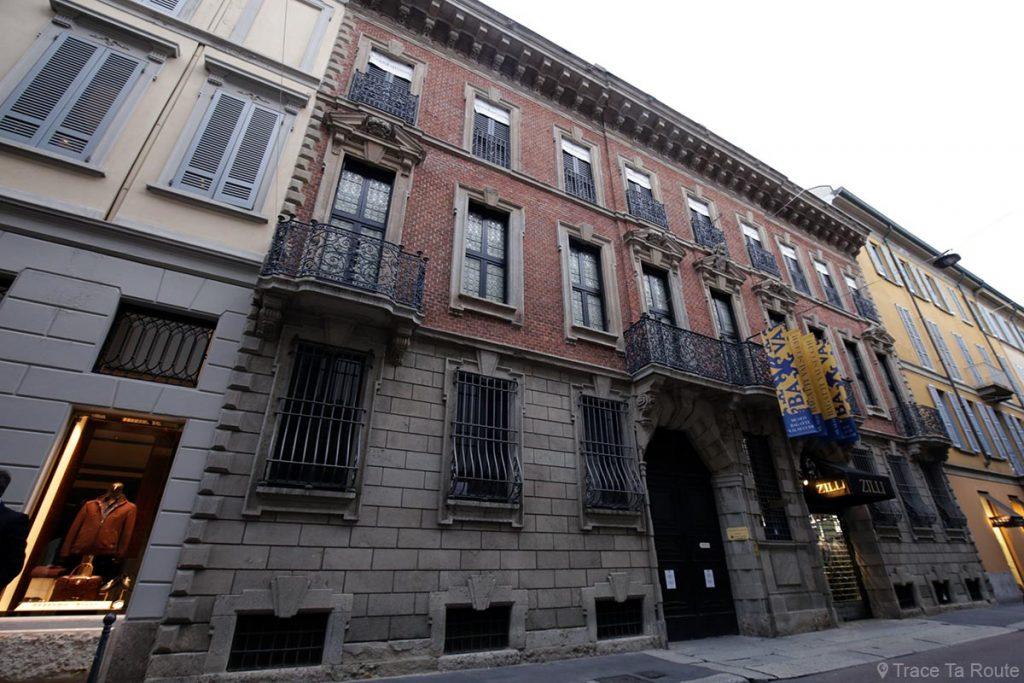Rue Via Gesù, Quadrilatère d'Or de Milan - Quadrilatero della Moda di Milano