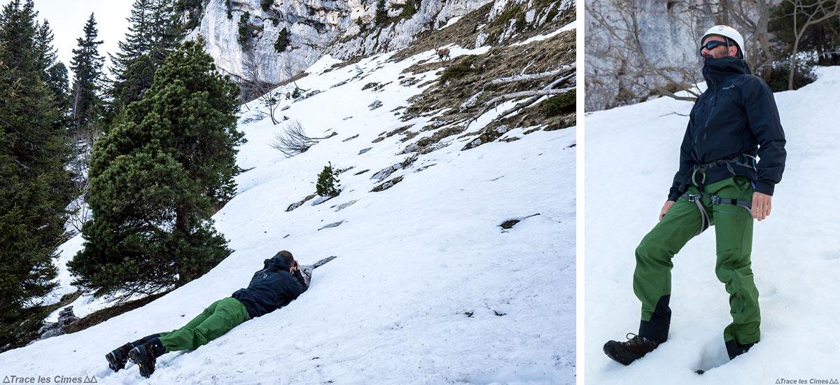 Test Pantalon Gore-Tex FALKETIND NORRØNA : marche, isolation dans la neige