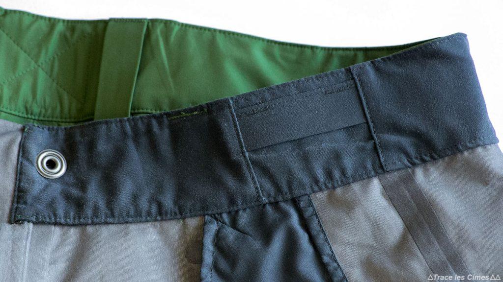 Test Pantalon Gore-Tex FALKETIND NORRØNA : intérieur ceinture hanches
