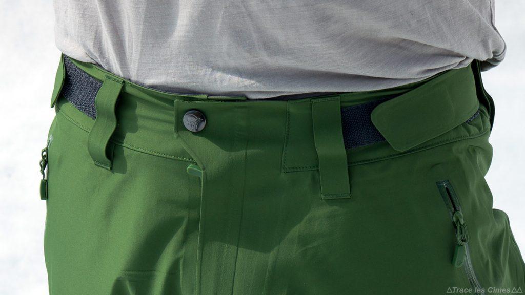Test Pantalon Gore-Tex FALKETIND NORRØNA : serrage velcro ceinture taille