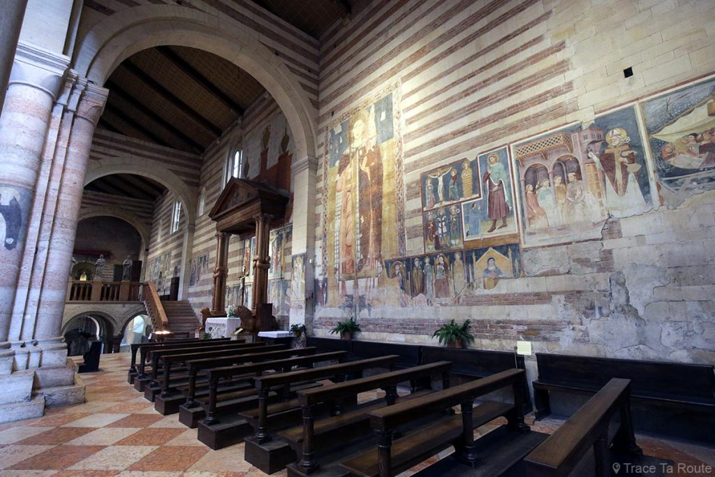 Fresques intérieur Nef de la Basilique San Zeno de Vérone - Basilica San Zeno Maggiore di Verona