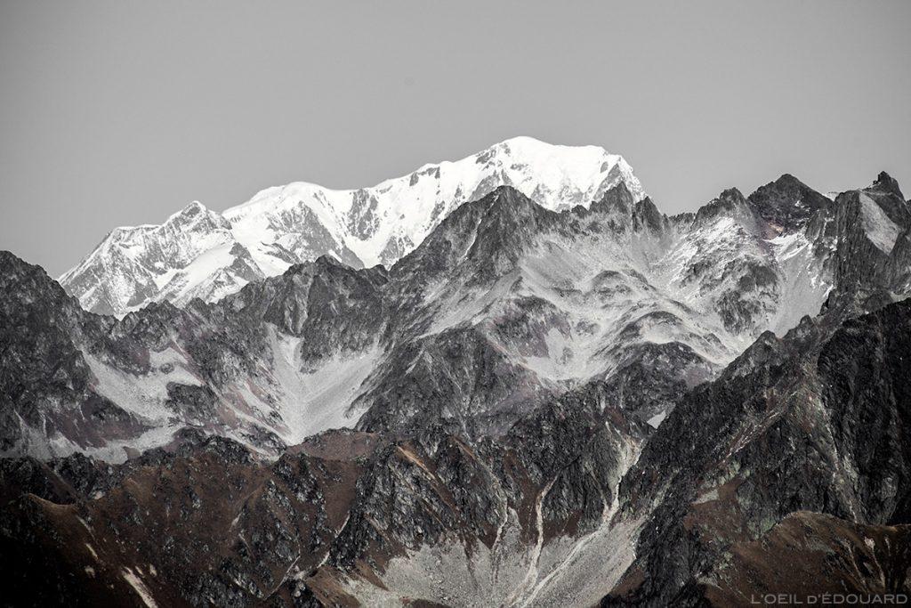 Le Grand Crozet et le Mont Blanc depuis la Cime de la Jasse, Belledonne © L'Oeil d'Édouard
