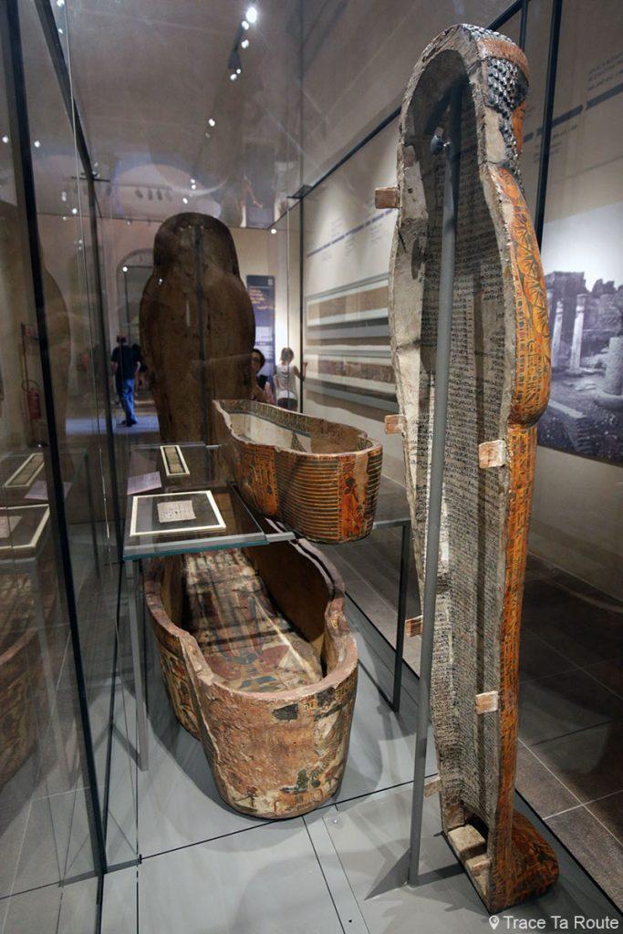 Sarcophage - Salle exposition Visite du Musée Égyptien de Turin - Museo Egizio di Torino