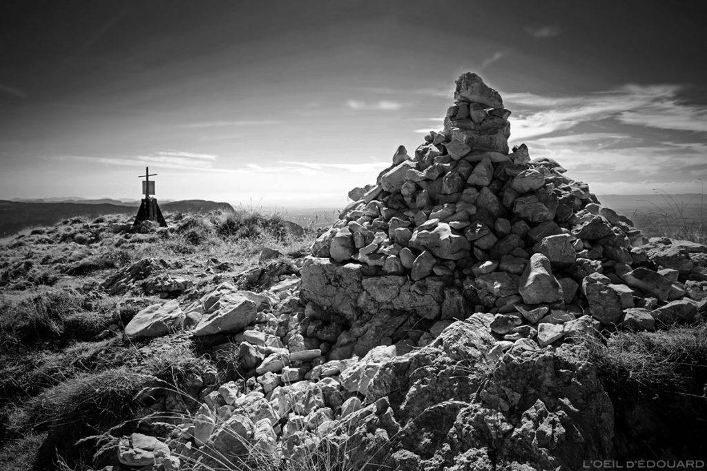 Cairn au sommet de la Grande Sure - Massif de la Chartreuse