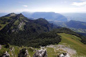 Vue sur le Vercors et l'Isère depuis le sommet de la Grande Sure - Massif de la Chartreuse