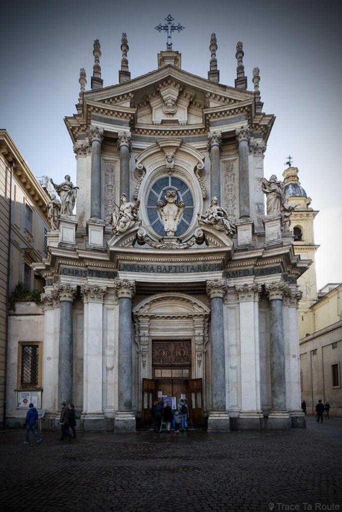 Façade Architecture baroque Église Turin Chiesa di Santa Cristina Torino