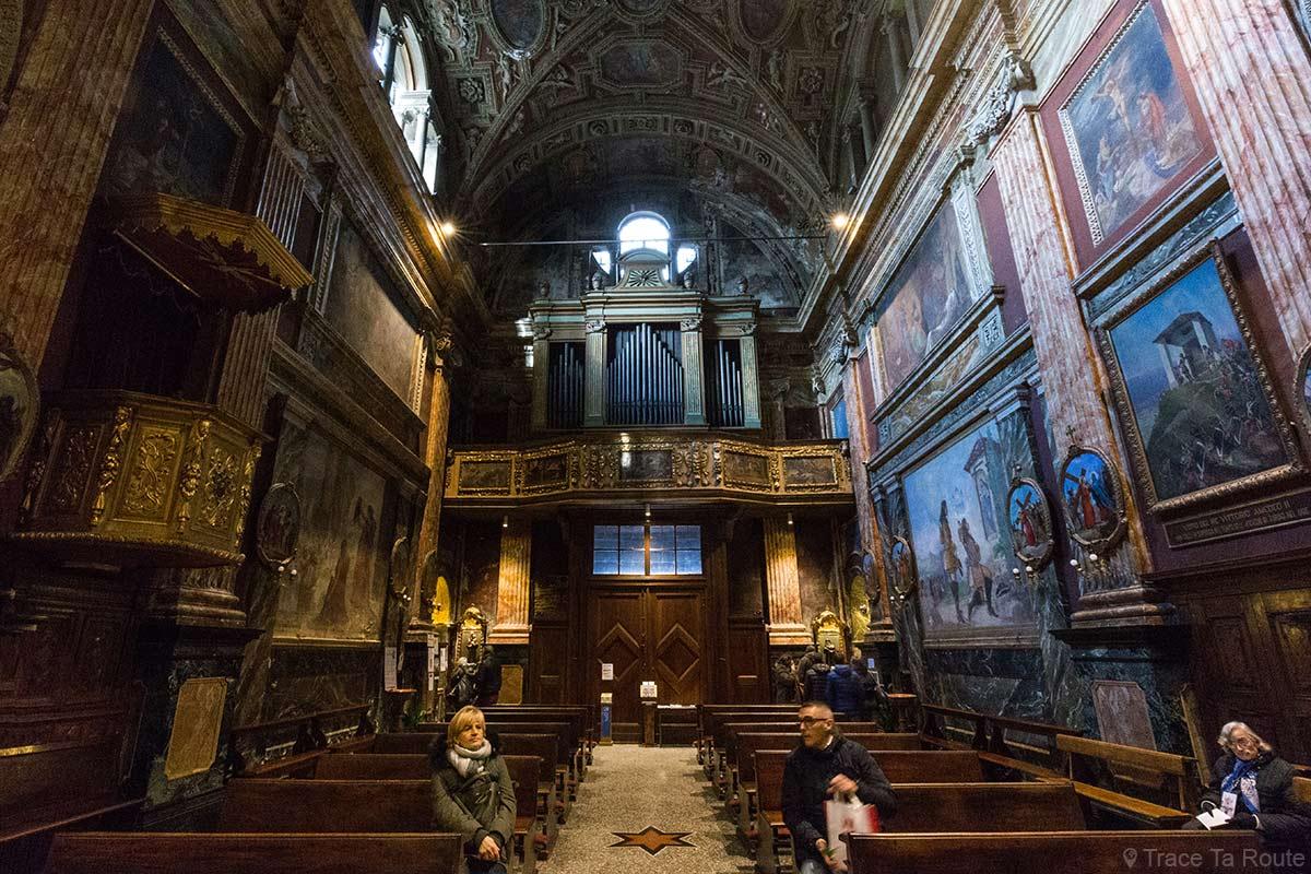 Intérieur Nef Église Turin Chiesa di Santa Cristina Torino