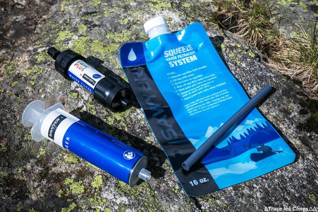 TEST : Système d'hydratation FILTRE à eau Sawyer Care Plus Squeeze water filtration system kit