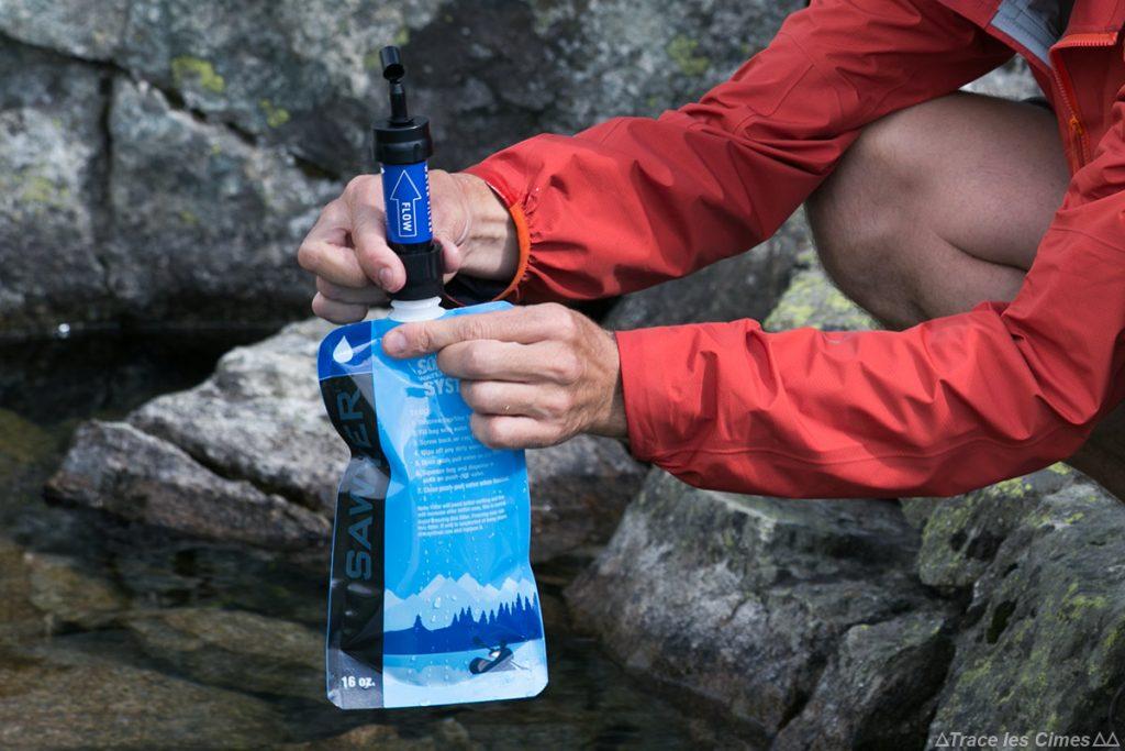 TEST : Système d'hydratation Poche FILTRE à eau Sawyer Care Plus Squeeze water filtration system kit
