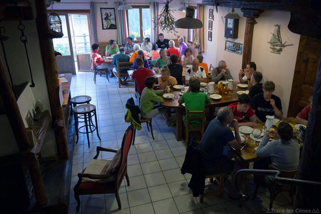 Repas Gîte d'étape Les Gabelous à Saint-Véran, Queyras (Hautes-Alpes)