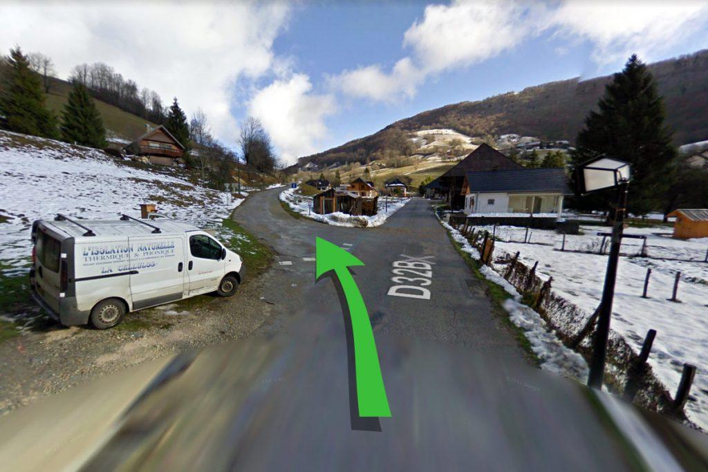 Aillon Le Jeune, Massif des Bauges, Savoie - Image Google Street View