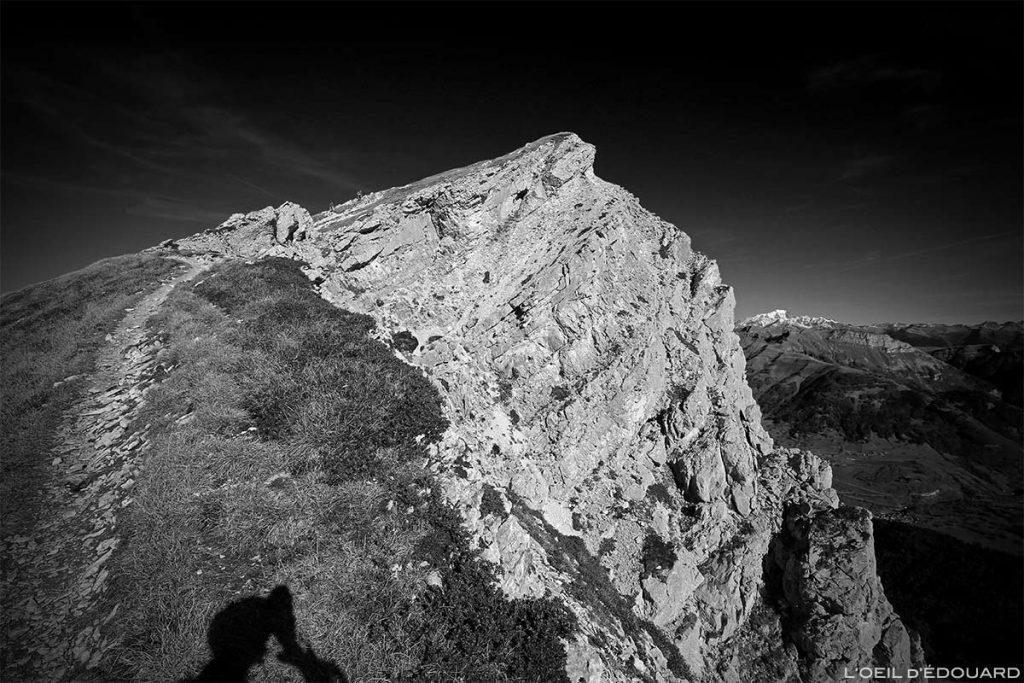 Le Mont Colombier et le Mont Blanc - Massif des Bauges, Savoie
