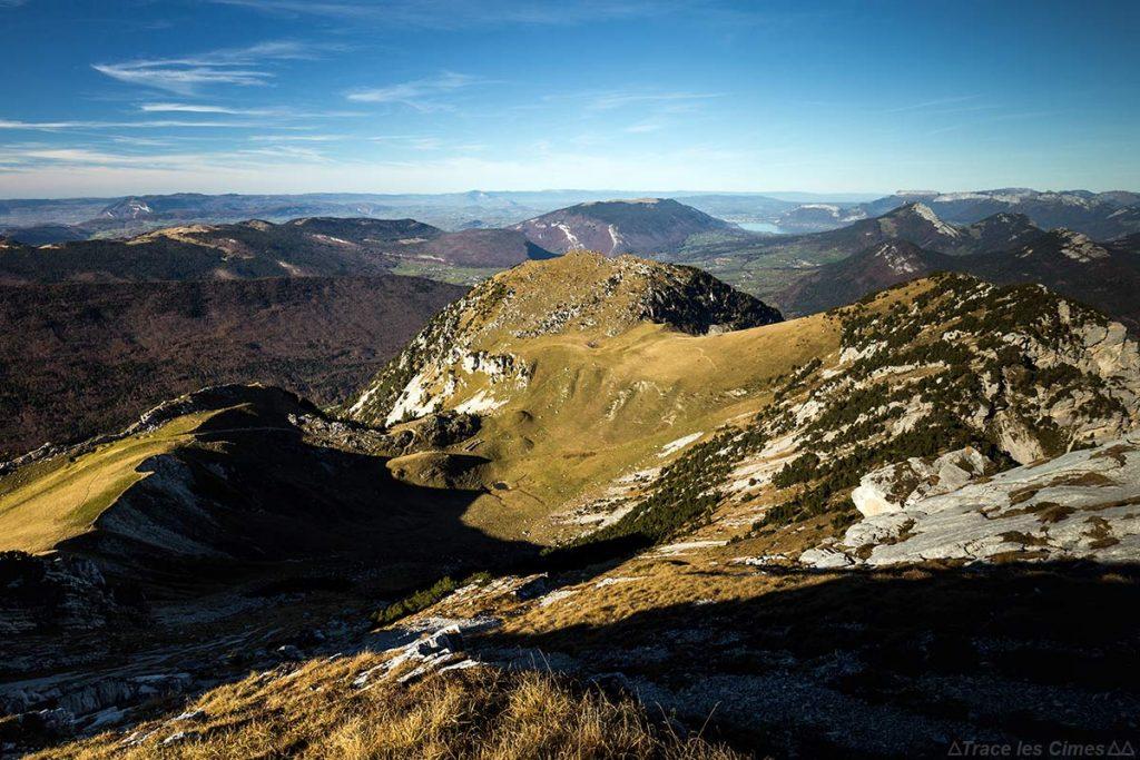 Le Mont Colombier et la Dent de Rossanaz, Massif des Bauges Savoie