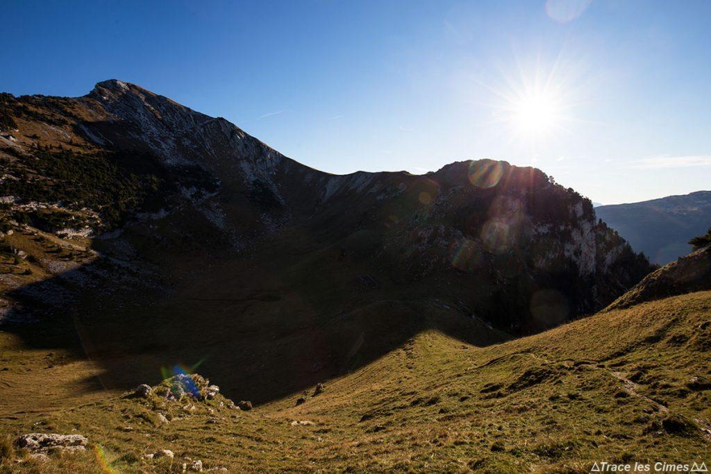 Le Mont Colombier depuis la Dent de Rossanaz, Massif des Bauges Savoie