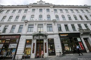 Bâtiment Art Nouveau Caisse d'épargne de Ljubljana Mesta Hranilnica Ljublanska, Slovénie