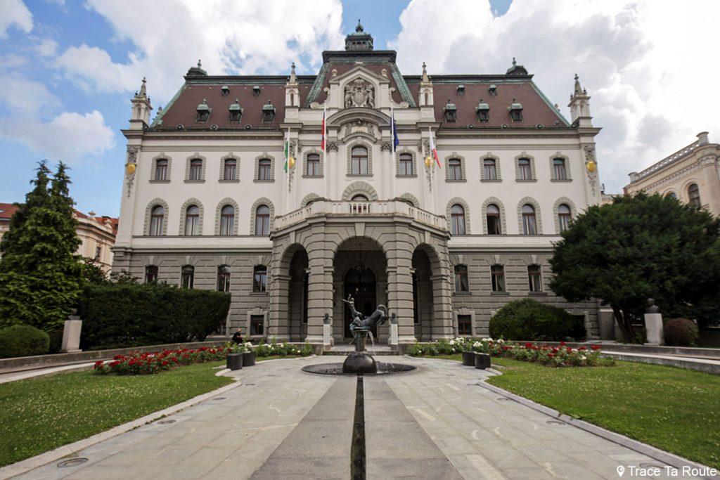 Bâtiment de l'Université de Ljubljana - Univerza v Ljubljani - Parc Zvezda, Kongresni Trg, Slovénie