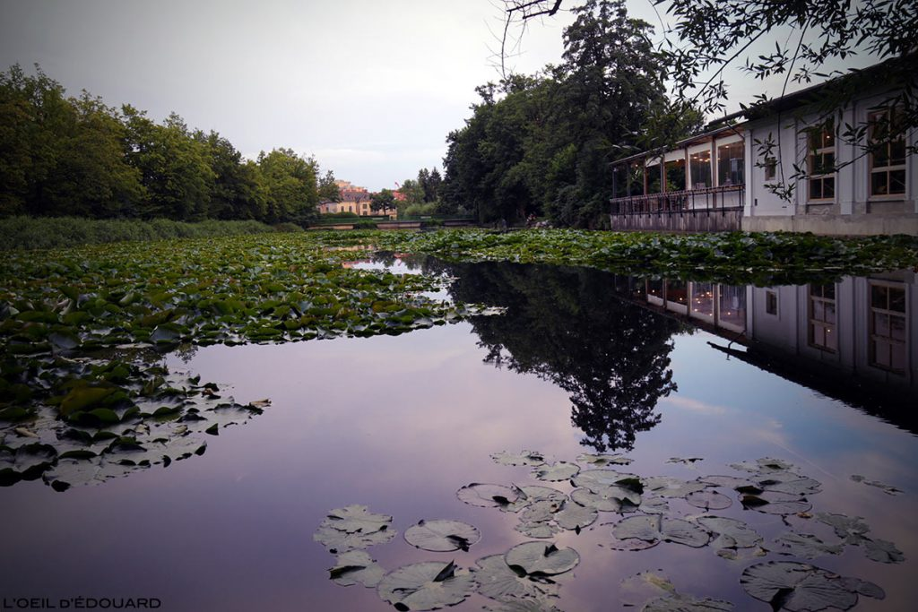 L'étang Ribnik dans le Parc Tivoli de Ljubljana, Slovénie