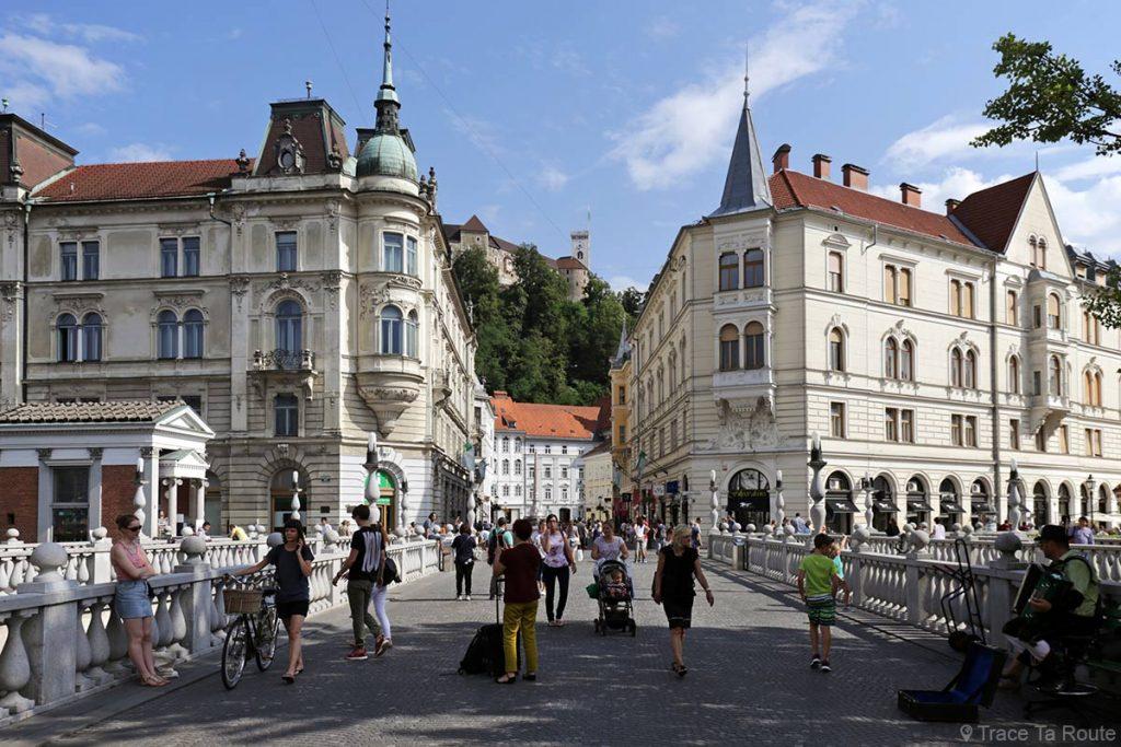 Tromostovje, le triple pont de Ljubljana, Slovénie - Slovenia / Slovenija