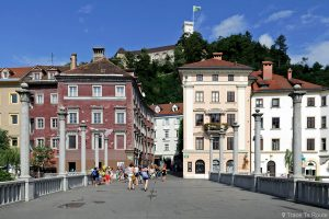 Čevljarski Most, le Pont des Cordonniers de Ljubljana, Slovénie
