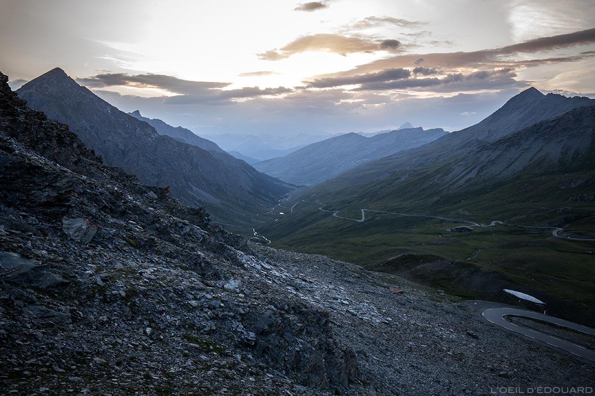 Coucher de soleil depuis le Col Agnel, Queyras (Hautes-Alpes)